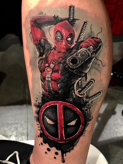 Done by #ShaunLoyer #Deadpool #realism #redinktattoo