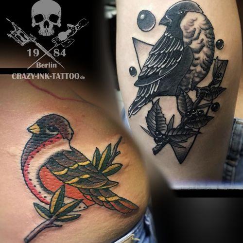 Hallo Freunde der bunten Haut,  hier ein #freundschaftstattoo ...⠀⠀⠀⠀⠀⠀⠀ . Nächten Monat noch einige freie Termine...  . Infos wie immer 017627112764 auch WhatsApp...⠀⠀ . http://crazy-ink-tattoo.de . http://facebook.com/crazy.ink.tattoo.berlin . http://instagram.com/crazy.ink.tattoo.berlin . . . . . #tattoo #tattoos #berlin #tattooberlin #berlintattoo #tattoomoabit #crazyink #crazyinkberlin #crazyinktattoo #crazyinktattooberlin #friendtattoo #colortattoo #inked #tattooed #tattoist #tatted #blackngrey #bodyart #friendshiptattoo  #berlintattooartist #berlintattooartists #classpen #worldfamousink #kwadron  #birdtattoo #tattooart #partnertattoo #sparrowtattoo #traditionaltattoo