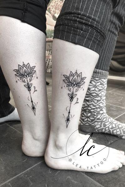 #mandala #abstract #arrow #lotus #geometric #friends #friendshiptattoo