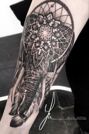 #Elephant & #mandala 😊