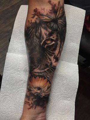 Tiger foreman tattoo #Tattoodo @tattoodo
