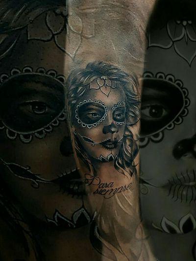 #catrina #diadelosmuertos #tattoooftheday #portrait #blackandgrey #realistic #tattoodoapp #malditoduende #followme on Instagram !