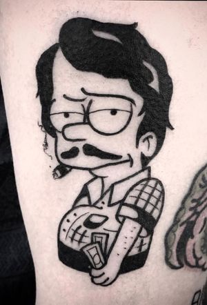 #kevinhennesseytattoo #Simpsons #thesimpsons #escobart #ink #inked #neotraditional #bold #skinart
