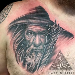 Tattoo by Lark Tattoo artist Matt C. Ellis. See more of Matt's work here: http://www.larktattoo.com/long-island-team-homepage/matt/ . . . . . . #Gandalf #GandalfTattoo #Hobbit #HobbitTattoo #TheLordOfTheRings #TheLordOfTheRingsTattoo #FellowshipOfTheRing #FellowshipOfTheRingTattoo #Wizard #WizardTattoo #Tolkien #TolkienTattoo #JRRTolkien #JRRTolkienTattoo #Tattoo #Tattoos #BNG #BNGTattoo #PortaitTattoo #Realistic #RealisticTattoo #LarkTattoo #tat #tats #tatts #tatted #tattedup #tattoist #tattooed #inked #inkedup #ink #tattoooftheday #amazingink #bodyart #tattooig #tattoosofinstagram #instatats #larktattoos #larktattoowestbury #westbury #longisland #NY #NewYork #usa #art