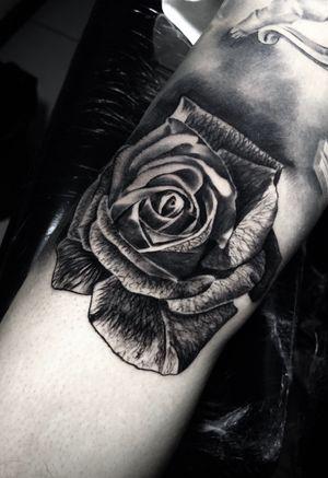 3h de trampo #rose #roseflower #flowers #flowertattoo #tattoo #ink #blackandgrey #blackandgreytattoo #inkjecta #intenzepride