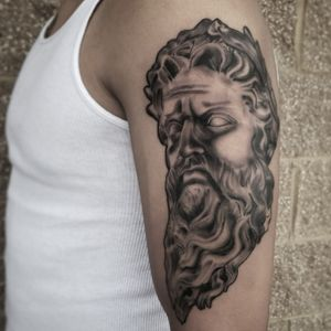 Because Zeus does it best. Sleeve in progress. Thanks for looking! . . ✖Like ✖Comment ✖Follow ☠☠☠🔛🔝🌎 . . #tattooing #tat #ink #tats #colorado #coloradotattoo #denver #black #art #inkig  #303 #denverartist #inkoftheday #inkfreakz #tattoorealism #inked #blackandgreytattoo #blackandgreyrealism #realistictattoo #zeus #zeustattoo