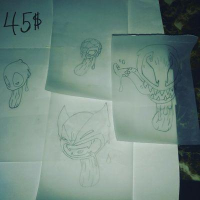 #superhero #Popsicles #Wolverine #Spiderman #Venom #Deadpool #newschool