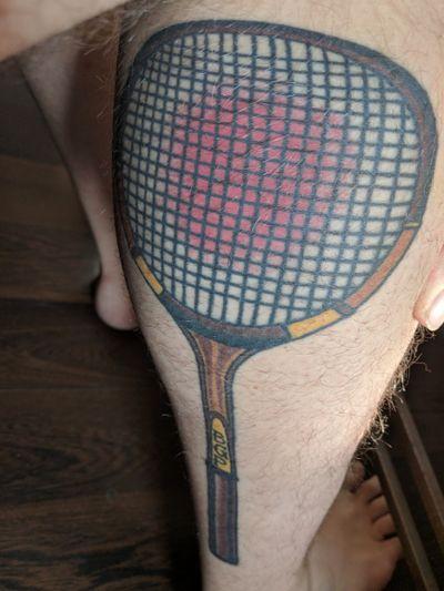 For my Gma.... #tennis #badass #seniorolympics #tennisracket #traditionaltattoo #traditional #UnitedStates #sacramentotattoo #sacramento