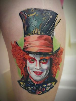 Looking for an amazing tattoo?  Chad Jacob in Hamilton Ontario is a top notch artists!  Mad Hatter 3 years later and still looks brand new!
