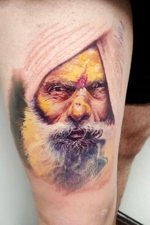 1era. Sesión ¡¡ #coloresmagicos #tattoolife #realismocolorido #beardstyle @super_art81