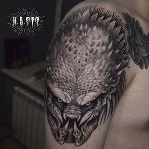 Predator #predator #avp #tattooartist #blacktattoos #alientattoo #movietattoos #BlackworkTattoos