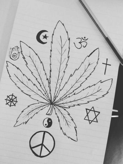☮️ #marijuana #weed #peace #YinYang #cannabis