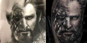 Azog x Thorin #lotr #lordoftherings #senhordosaneis #hobbit #dwarf #orc #jrrtolkien #tolkien #tolkientattoo