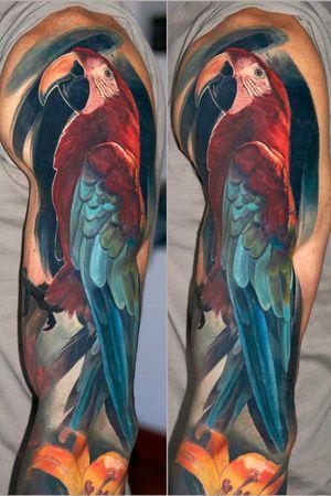 #parrot #healed #wroclawtattoo #Poland #alminztattoo