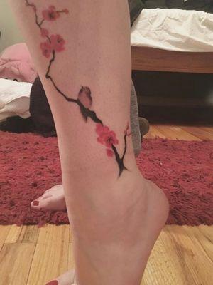 #bird #branches #flowers