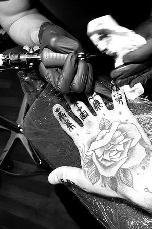 First finger Tattoo