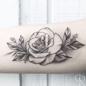 Rose Love #RoseTattoos #floral #floraltattoo #LineworkTattoos #dotworktattoos #BlackworkTattoos