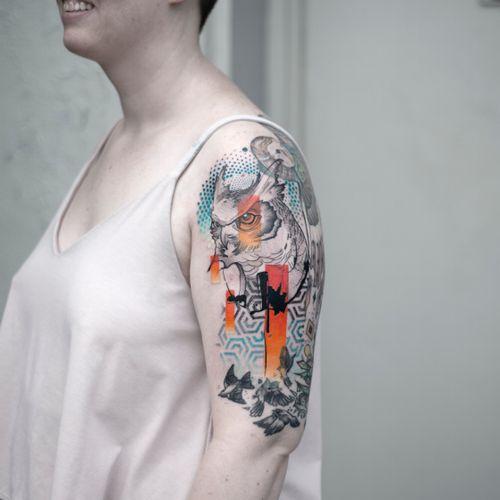 Abstract owl for Virginia #tattoo#owl #animal