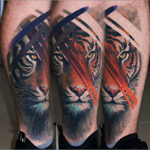 #tiger #coverup #healed for 3 months #uzhgorodtattoo #nomercytattoo #alminztattoo