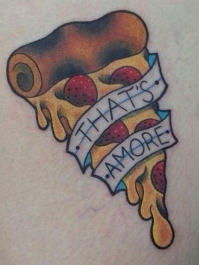 Pizza🍕 #pizzatattoo #pizza #tatuaggi #tattoo #tatuagem #tatuaggio #tatuaggipizza