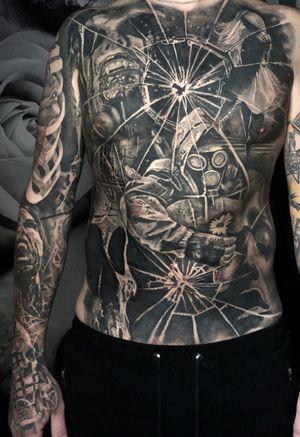 Progress... #tattoo #tattoos #tattooartist #BishopRotary #BishopBrigade #BlackandGreytattoo #QuantumInk #ImmortalAlliance #SullenClothing #SullenArtCollective #Sullen #SullenFamily #TogetherWeRise #ArronRaw #RawTattoo #TattooLand #InkedMag #Inksav#BlackandGraytattoo #tattoodoapp #tattoodo