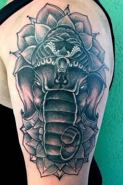 Ganesha #tattooartist #art #neotraditional #traditional #ganesha #mandala #blackandgrey #dotwork #Black #mannheim