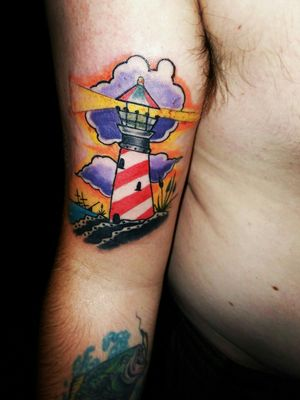 #pirate #lighthouse #watercolor #colorful #colortattoo #shiptattoo #oceantattoo #sunsettattoo