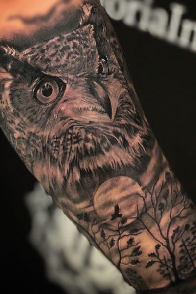 #owl #owltattoo #kevinibanez