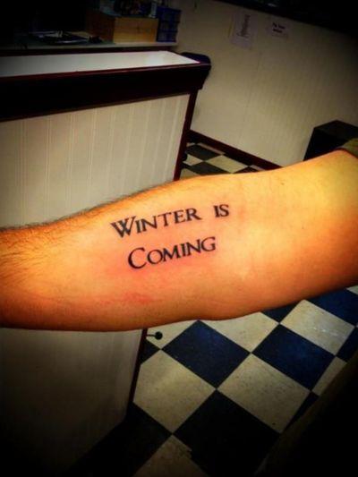 Winter is coming game of thrones #gameofthrones #winteriscoming #gameofthronestattoo