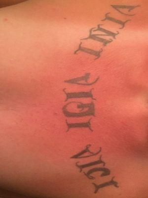 Vini vidi vice tattoo i did on my brothers chest