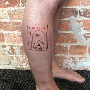 Tattoo by Chinatown Stropky #Chinatownstropky #ignorantstyletattoos #ignorantstyletattoo #ignorantstyle #ignoranttattoo #ignorant #airplane #window #space #exit #saturn #galaxy #text #font #minimal #linework