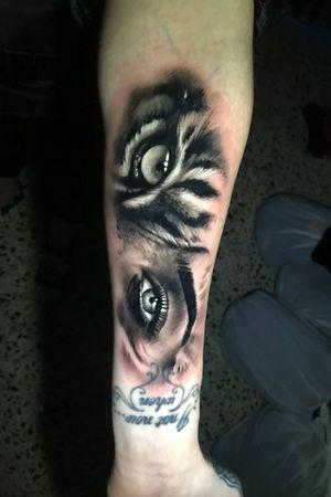 Tiger eye woman eye