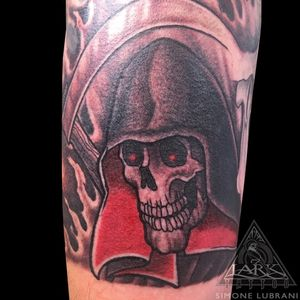 Tattoo by Lark Tattoo artist Simone Lubrani. More of Simone's work: https://www.larktattoo.com/long-island-team-homepage/simone-lubrani/ . . . . . #skeleton #skeletontattoo #skull #skulltattoo #grimreaper #grimreapertattoo #colortattoo #tattoo #tattoos #tat #tats #tatts #tatted #tattedup #tattoist #tattooed #inked #inkedup #ink #larktattoo #amazingink #bodyart #tattooig #tattoosofinstagram #instatats #larktattoo #larktattoos #larktattoowestbury #westbury #longisland #NY #NewYork #usa #art