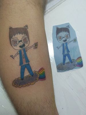 Renata's draw #sister #draw #art #colorful #tatuagem