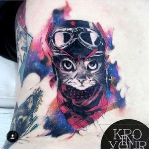 Gato galactico #galaxia #kpo #kpobta #tattoo #colombia #cat #tattoocolombia #ilustration