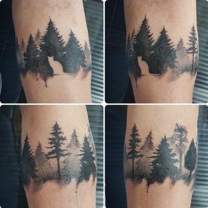 Forest sumi-e