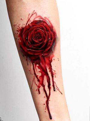 #rosa #red #rosestattoo #bloody #SangreYTinta