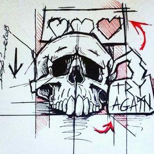 """""""Try again"""" #skull #gamer #typo #trash"""