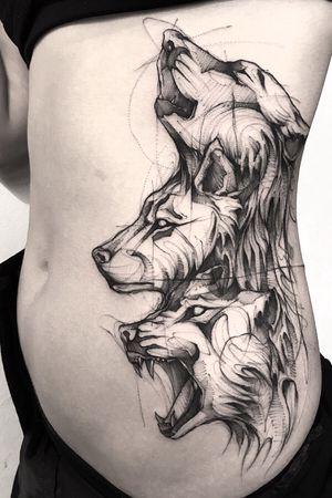 🐺🐺🐺 #wolf #wolftattoo #tattoo #tattooartist #tattooart