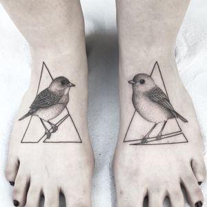 """Birds"" - more on INSTAGRAM: _mfox #art #tattoo #tattoos #ink #inked #bird #nature #geometry #geometric #inkedgirl #tattooedgirl"