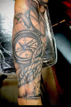 #compass #blackandgrey