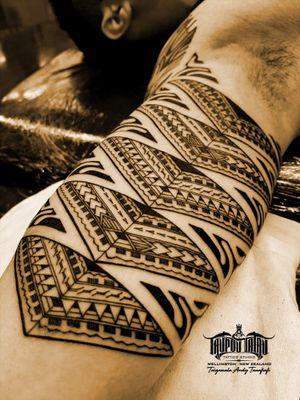 Freehand #Samoan #Marquese inner bicep sleeve addition. #Polynesian #samoantattooartist #newzealandtattooist