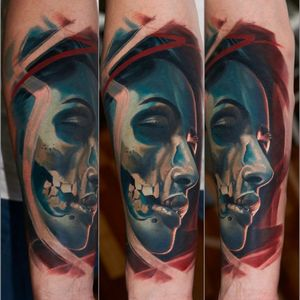 #dead #beauty #skull #girl #wroclawtattoo #Poland