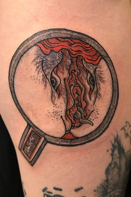 Yokai Shunga tattoo by Bang Ganji #BangGanji #shungatattoo #shunga #erotictattoo #erotic #nsfw #japanesetattoo #japaneseinspired