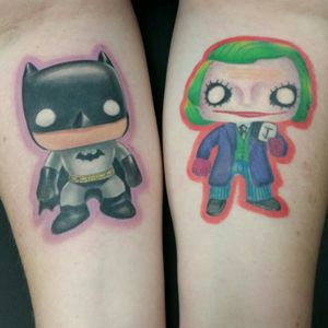 Funko pop batman and joker #batmanjoker #cute