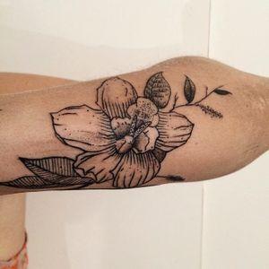 Done in Buenos Aires. Gracias Andrea!!! #flower #botanical #danilodelfino