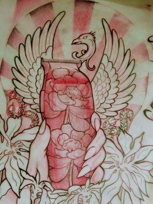 Practice#sketchtattoo #tattooart #tattooapprentice #tatuadorescolombianos #fenixtattoo