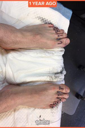 """""""Exit Life"""" toe tattoos RIP Lil Peep"""