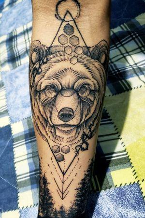 Sketch bear #beartattoo #bear #florest #urso #floresta #sketch #blackart