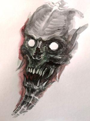 #tattoo #tattoominsk #tattooart#art #minsk #sketch #skull
